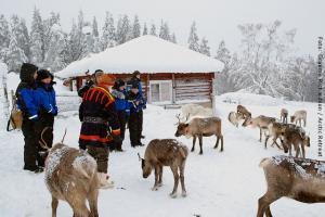 Besuch einer Sami Familie