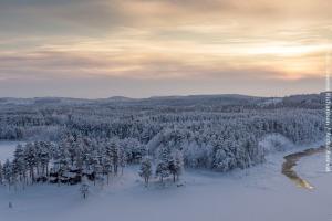 Winterreise Blockhütte Lappland