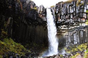 Island Wasserfall Svartifoss