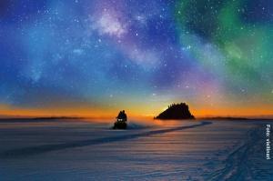 Finnland-Winterreise-Polarhimmel-Nordlichter-Winternacht