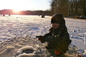 Winterreise Finnland See