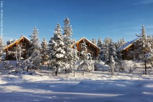 Hotel Muotka Lappland Lodge - Blockhütten am Fluss