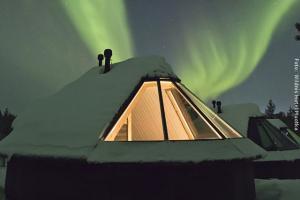 Hotel Muotka Lappland Lodge - Nordlichthütte