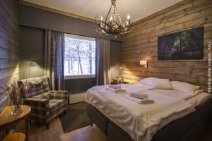 Hotel Muotka - Doppelbett im Wildnis Zimmer