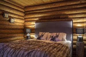 Hotel Muotka - Doppelzimmer in Hütte am Fluss