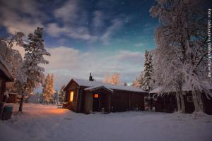 Schneemobil Safari Schweden - Hütten & Nordlicht