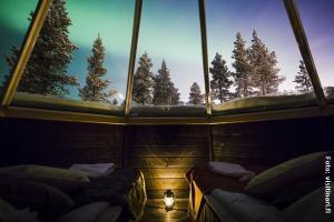 Polarlicht-Hütten Inari Finnland