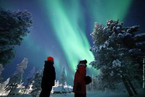 Nordlichter Dorf Lappland NLV