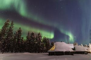 Nordlichter Dorf Lappland Saariselka