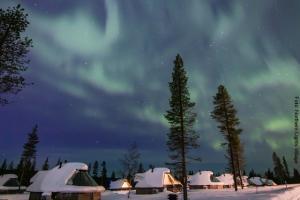 Nordlichter Dorf Saariselka Lappland