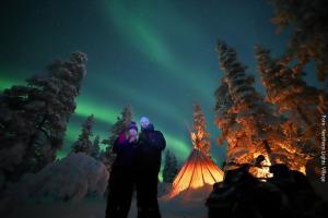 Nordlichter Safari Lappland NLV