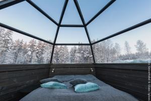 Schneehotel und Glasiglus Finnland - Doppeliglu Innen