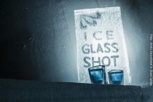 Schneehotel und Glasiglus Finnland - Eisbar