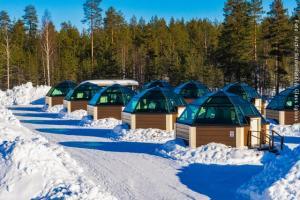 Schneehotel und Glasiglus Finnland - Glasiglu