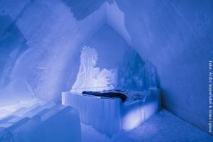Schneehotel und Glasiglus Finnland - Schneehotel Suite