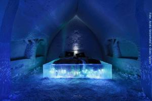 Schneehotel und Glasiglus Finnland - Schneehotel Waldsuite