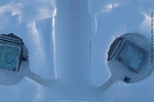 Schneehotel und Glasiglus Finnland - Whirlpool