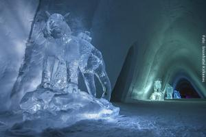 Schneehotel Norwegen von Innen