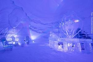 Schneehotel von Innen