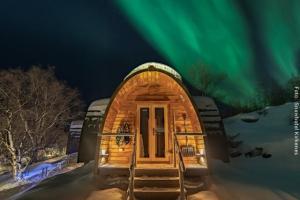 Nordlichthütte von Außen
