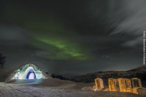 Norwegen Schneehoteleingang