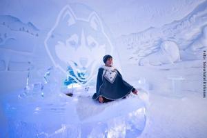 Schnee-Yoga