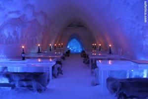Schneehotel Finnland