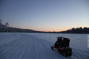 Schneemobil-Safari Lappland