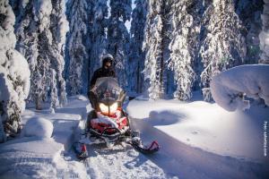 Schneemobil Fahrt Finnland