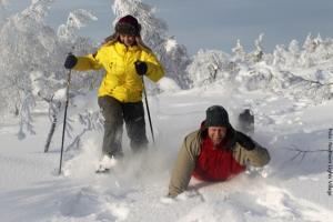 Schneeschuhwandern in Lappland