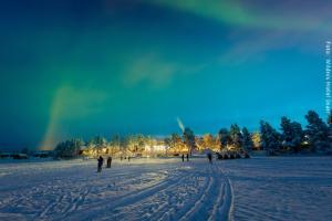 Hotel Muotka Lappland Lodge - Nordlichter am Inarisee