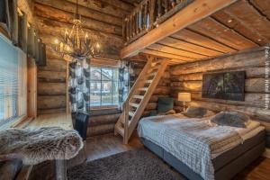 Blockhütten Suite mit Doppelbett