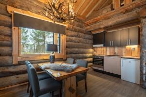 Blockhütte mit Küche