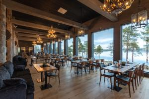 Restaurant im Wildnishotel Inari