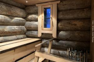 Sauna in Panorama Blockhütte